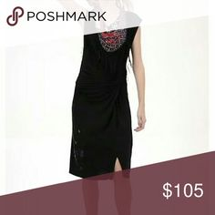 Dress Desigual black dress with scarf Desigual Dresses