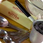 Weight to volume conversions for flour, sugar, butter... Useful for British and Australian recipes.