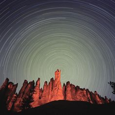 Known as one of the darkest places in the country, Bryce Canyon National Park in southern Utah is a spectacular place to view the night sky.  Captured on a film exposure of 6 hours, stars form long trails as the Earth rotates on its axis during a dark new moon cycle. Francisco Kjolseth | The Salt Lake Tribune