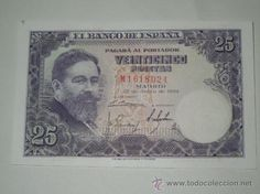 billete 25 pesetas 22 julio 1954 sin circulacion serie m