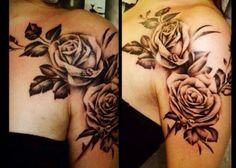 I love the flowers on the shoulder like this. Definitely my next tattoo!