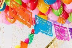 Whether you're planning a Cinco de Mayo party or just helping with the decor, we've got you covered! Here are 5 last-minute fiesta DIYs to jazz up your gathering. DIY Fiesta Balloon Ceiling for Cin. Balloon Ceiling, Ceiling Decor, Ceiling Ideas, Kitchen Decor Themes, Birthday Balloons, Balloon Party, Home Interior, Party Themes, Party Ideas