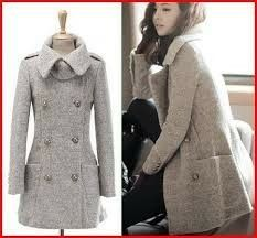 Amazon.com: Aeropostale Womens Hooded Plaid Wool Pea Coat ...