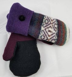 This item is unavailable Sweater Mittens, Wool Sweaters, Upcycle, My Etsy Shop, Trending Outfits, Unique Jewelry, Handmade Gifts, Check, Vintage