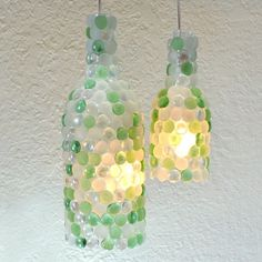 Turn your old wine bottles into simple yet amazing pendant lighting for your home. No electrical experience needed!