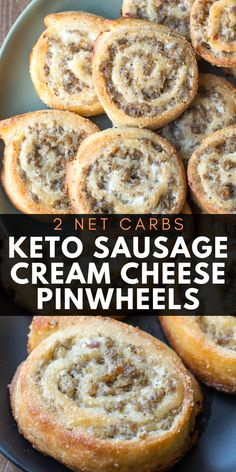 The perfect keto appetizer! Keto Sausage Cream Cheese Pinwheels are made with fa… The perfect keto appetizer! Keto Sausage Cream Cheese Pinwheels are made with fat head dough and loaded with sausage and cream cheese! Just two net carbs per serving! I Have Breakfast, Low Carb Breakfast, Breakfast Recipes, Breakfast Cereal, Breakfast Casserole, Dinner Recipes, Breakfast Ideas, Diabetic Breakfast, Keto Casserole