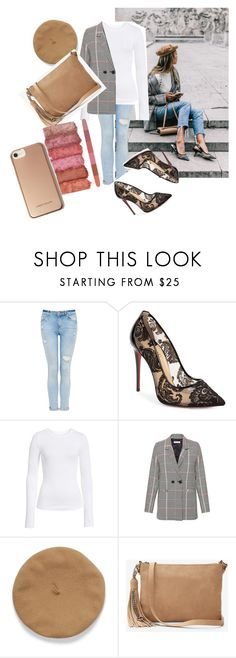 """""""Untitled #66"""" by dressmania3 ❤ liked on Polyvore featuring Christian Louboutin, BP., Anine Bing, Express and Karen Millen"""