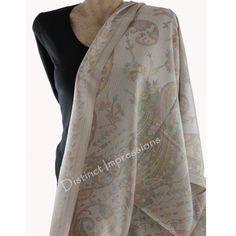 Lovely cream Scarf This pashmina scarf has a lovely reversible pattern, so flip it to the other side and you have a new scarf