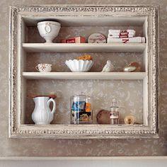 framed box for shelving.  Looks pretty.