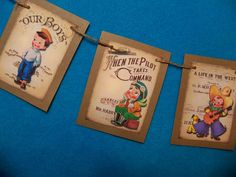 mini Little Boys Banner Rustic Look Child's by BethsBannerBoutique