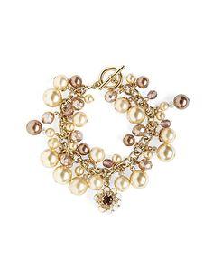 Tonal Pearl Cluster Bracelet - Brooks Brothers