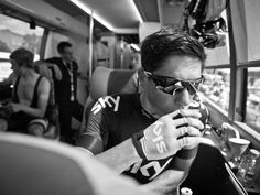 SCOTT MITCHELL - TOUR STAGE TWO GALLERY Peter Kennaugh sips a coffee before heading out for the day