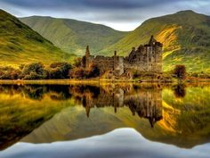 Kilchurn Castle, built on a small, rocky isthmus at the tip of Loch Awe near Dalmally in Argyl, Scotland   13 Fairytale Castles You Must Visit In Scotland