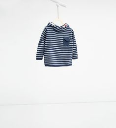Hooded knit striped sweater-SWEATERS AND CARDIGANS-BABY BOY | 3 months-3 years-KIDS | ZARA United States