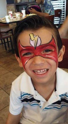 #flashfacepaint #superherofacepaint #funfacesballooncreationsfacepaint Flash Face Paint, Superhero Face Painting