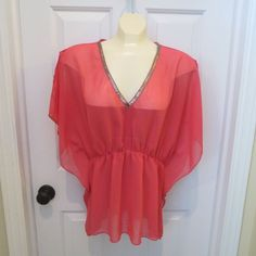SALE GOING ON NOW!!  GREAT DEAL'S!! HURRY!  Charlotte Russe Slipover Top Pink Size Med  SUPER CUTE!! #CharlotteRusse #Flutter #Any
