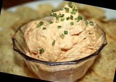 This is a nice spicy dip I like to serve with nachos or baked pita chips or even on celery. I only use the name brand mayonnaise and hot sauce listed in the ingredients as they have distinct flavours that work well together.