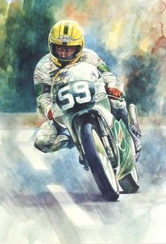The Man from Ballymoney - Joey Dunlop by Jeremy Mallard http://www.facebook.com/JeremyMallardsArtAchive