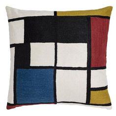 Zaida Quadri Art 60x60cm Embroidered Cushion
