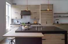 additional counter top bar able to go in or out would be great      all wood kitchen | ombiaiinterijeri