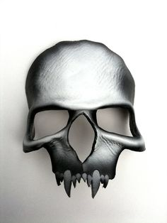 Vampire Skull Leather Mask by mrhydesleather on Etsy, $48.00