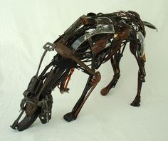 Sculpture made from reclaimed waste