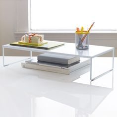 Make the most of your desk space with the High Places Desk Riser. The sturdy yet minimalist design creates vertical space to hold your office essentials or other personal belongings. Your organizationa...  Find the High Places Desk Riser - Large, as seen in the Organized by Mid-Century Design Collection at http://dotandbo.com/collections/organized-by-mid-century-design?utm_source=pinterest&utm_medium=organic&db_sku=DIM0223-lrg
