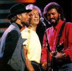 Maurice, Robin and Barry Gibb. My top five Bee Gees songs 1. Too Much Heaven 2. Words 3. How Deep is Your Love 4. Run to Me 5. Immortality tied with How Can You Mend a Broken Heart
