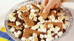 Pillsbury Smores Nachos are so easy to make in the oven.  Your kids will love them!