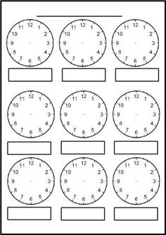 Free printable blank clock faces worksheets                                                                                                                                                                                 More