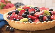 Tarte à la crème pâtissière et aux fruits