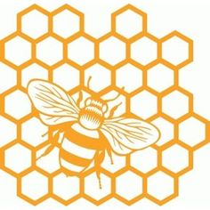 Bee honeycomb shape from the Silhouette Design Store! Remedies For Bee Stings, Bee Images, Silhouette Design, Bee Silhouette, Bee Tattoo, Bee Art, Bee Crafts, Stencil Patterns, Bee Design