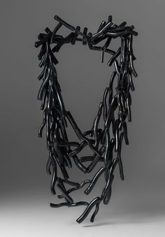 Monies UNIQUE Ebony Branch Beads Multi Strand Necklace
