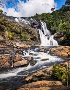 The Bakers Falls, Horton Plains National Park, Sri Lanka