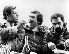 Jerry Lewis, Robert De Niro & Martin Scorsese on the set of The King of Comedy (1983).