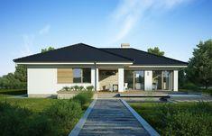 DOM.PL™ - Projekt domu FA Julia CE - DOM GC5-64 - gotowy koszt budowy House Plans, Garage Doors, Floor Plans, Flooring, Outdoor Decor, Home Decor, Houses, Albums, Projects