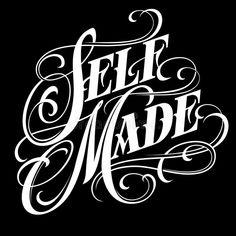 Self Made - Elegant Calligraphic Lettering In Tattoo Style. Stock Vector - Illustration of swirls, english: 160754846 - Self made – elegant calligraphic lettering in tattoo style. Tattoo Lettering Design, Chicano Lettering, Graffiti Lettering Fonts, Tattoo Design Drawings, Creative Lettering, Hand Lettering, Graffiti Words, Kritzelei Tattoo, Money Tattoo
