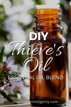 With cold and flu season in full swing, everyone should keep this DIY Thieves oil recipe in their natural first aid kit to kill germs and prevent illness. #naturalhealth #naturalliving #diy #recipe #essentialoils