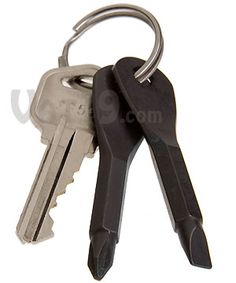 Keychain Screwdriver Set - -a flathead and a Phillips screwdriver that fit on his keychain.  Great stocking stuffer!