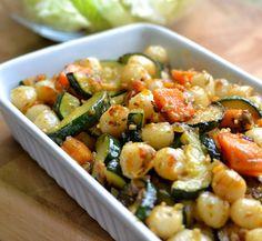 ניוקי עם בטטה וזוקיני - Gnocchi with Sweet Potato and Zucchini