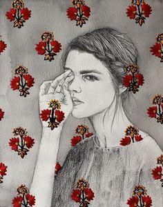 Ilustração + bordado de Izziyana Suhaimi / A hurricane thundercloud! Embroidery Fashion, Embroidery Art, Art And Illustration, Inspiration Art, Contemporary Embroidery, High School Art, Art Design, Oeuvre D'art, Textile Art
