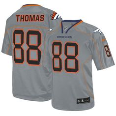 Demaryius Thomas Elite Jersey-80%OFF Nike Lights Out Demaryius Thomas Elite Jersey at Broncos Shop. (Elite Nike Men's Demaryius Thomas Lights Out Grey Jersey) Denver Broncos #88 NFL Easy Returns.