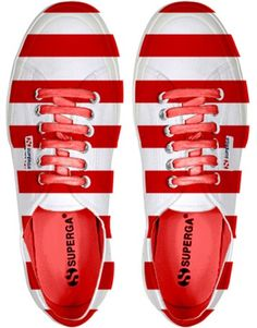 Superga  Red|White  prefer to think these are more Dr. S's shoes!