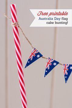 Free printables to make your own DIY Australia Day cake bunting!