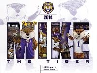 2014-15 LSU Mike the Tiger Poster