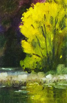 Tree Oil Painting Original Miniature Landscape by smallimpressions, $40.00    ...BTW,Please Check this out:  http://artcaffeine.imobileappsys.com