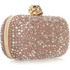 Alexander McQueen Classic Skull diamanté-embellished box clutch found on Polyvore