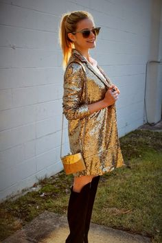@kimtuttle418 of The Knotted Chain in the Name in Lights Sequin Blazer || Get the blazer: http://www.nastygal.com/clothes-outerwear-blazers/nasty-gal-name-in-lights-sequin-blazer?utm_source=pinterest&utm_medium=smm&utm_term=ngdib&utm_content=nasty_gals_do_it_better&utm_campaign=pinterest_nastygal