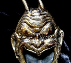 Antique 19th C French Art Nouveau Bronze Ashtray Laughing Faun or from nicole-la-bay on Ruby Lane