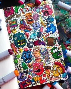 Copic Art, Doodle Inspiration, Pencil And Paper, Paper Artist, Doodle Art, Anime Art, Doodles, Artsy, Fan Art